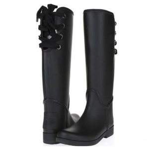 Coach matte tristee rubber rain boots size 7
